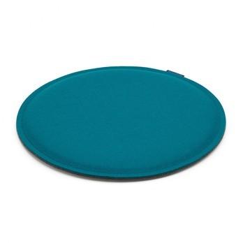 Hey-Sign - Sitzauflage rund Ø 40cm Schaumstofffüllung  - deep water blau/Filz/antirutsch