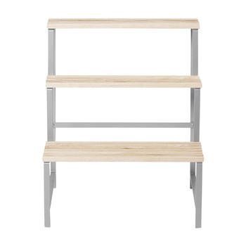 DesignHouseStockholm - DesignHouseStockholm Pflanzenständer - Esche natur/lackiert/Gestell Metall/65x78x53cm