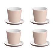 Alessi - Tonale Set - 4 Tasses de moka et 4 soucoupes