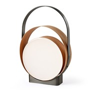 LZF Lamps - Lampe de table LED Loop structure nickel noir