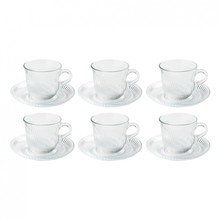 HAY - Pirouette Cup and Saucer Set of 6