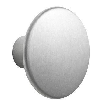 Muuto - The Dots Kleiderhaken Metall L - aluminium/Ø 5cm