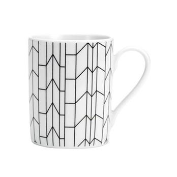 Vitra - Coffee Mug Graph Kaffeetasse - weiß/schwarz/0.3l/H 9.5cm/Ø 7.5cm