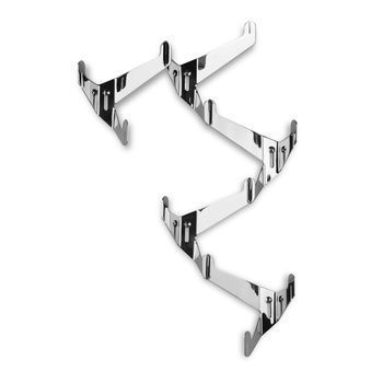 Authentics - Häkeln Coat Hook - polished/stainless steel/6 pieces