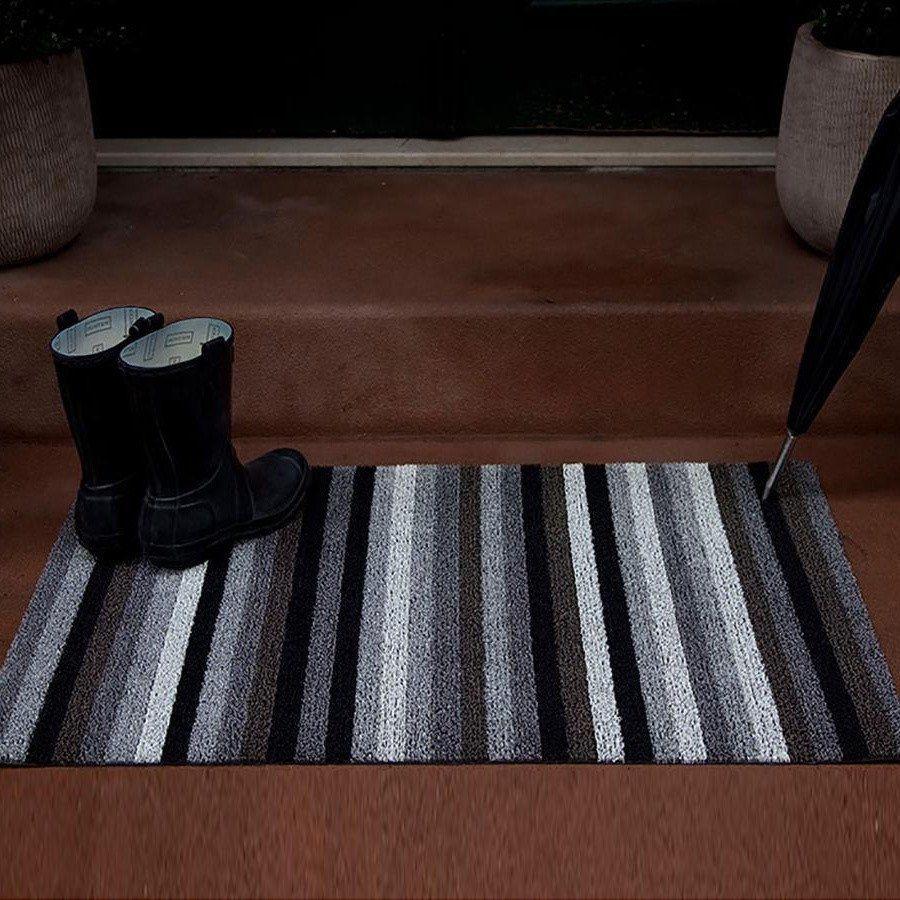 Chilewich   Shag Even Stripe Door Mat 46x71cm ...