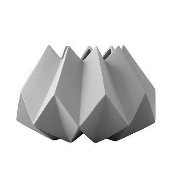 Menu - Folded Vase S - asche/H 15cm, Ø 22cm