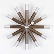 - Wheel Clock Nelson Wanduhr - nussbaum/aluminium/Ø45.5cm