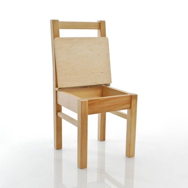 lea chaise enfant avec coffre rangement kinderbunt