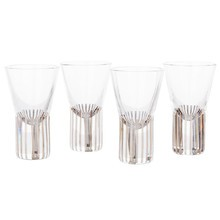 Tom Dixon - Tank Platinum Stripe Shot Glass Set of 4