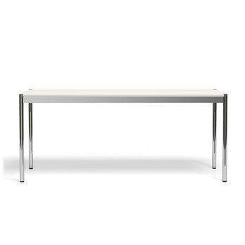 USM Haller - USM Tisch 175x75cm - reinweiß/MDF/Gestell Stahl verchromt
