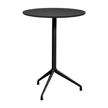 - About a Table AAT20 Stehtisch Ø80cm - schwarz/Tischplatte Linoleum/Kante schwarz/H 105cm