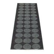 pappelina - Hugo Teppich 70x240cm - metall schwarz/schwarz
