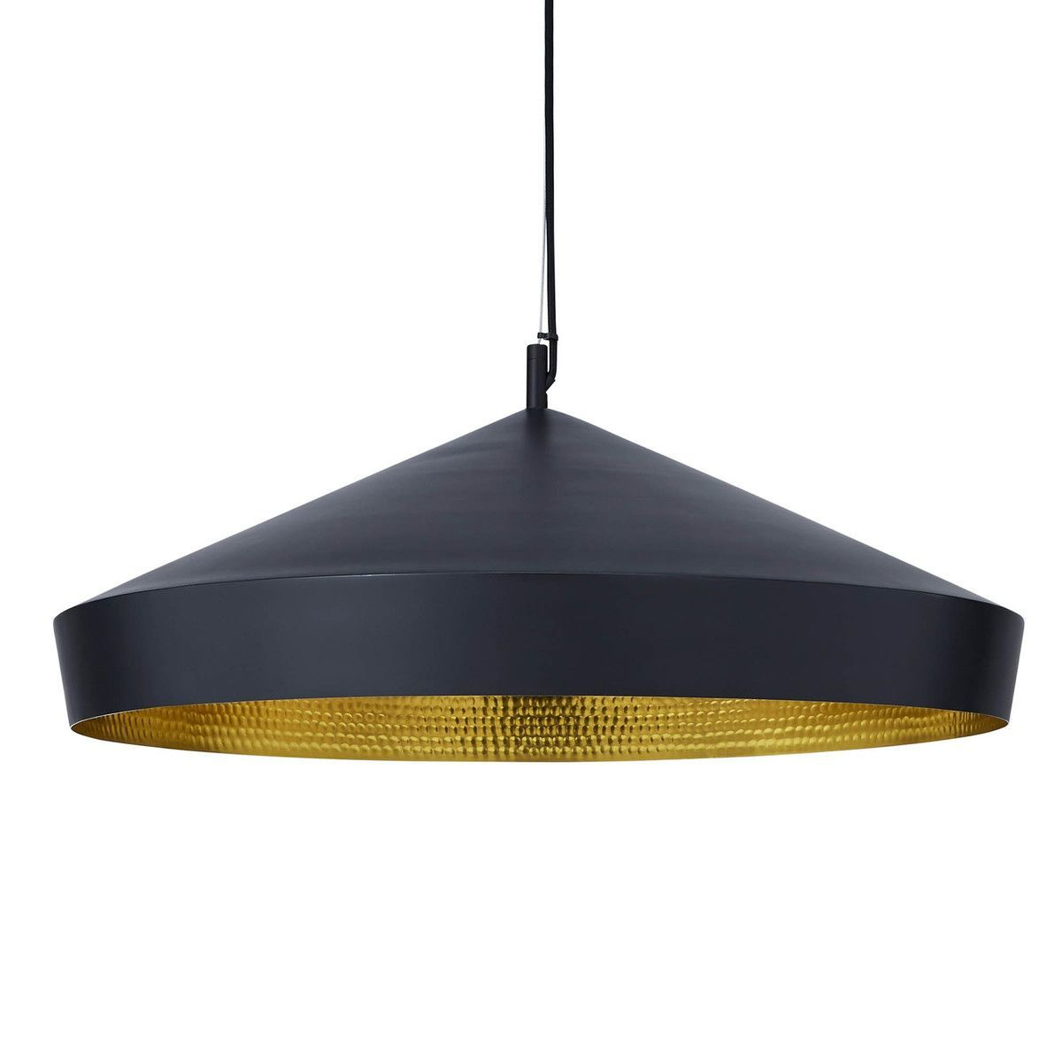 beat flat suspension lamp tom dixon black beauties. Black Bedroom Furniture Sets. Home Design Ideas