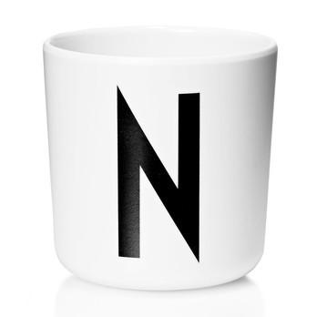 Design Letters - Design Letters Melaminbecher N-Z Weiß S