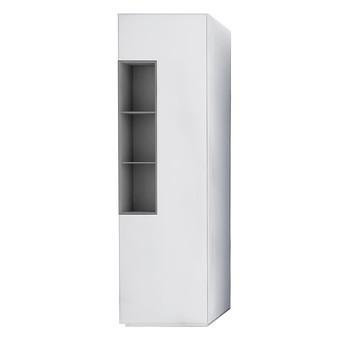 MDF Italia - Inmotion B53 Hochschrank - weiß/drehbares Element grau/4-Fachböden, 1 Element drehbar