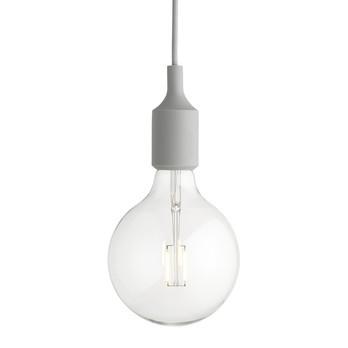 Muuto - E27 LED Pendelleuchte - hellgrau/2500K/160lm/dimmbar/Ø12.5cm/mit LED Leuchtmittel
