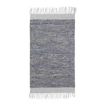 ferm LIVING - ferm LIVING Melange Teppich 8225 - blau/grau/handgewebt/waschbar bei 40°C/LxB 100x60cm