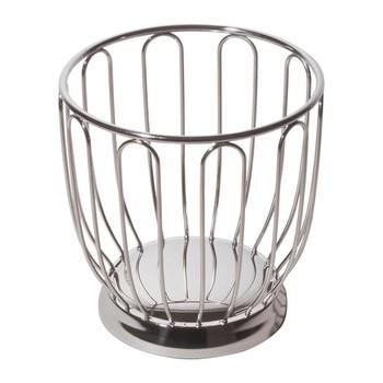 Alessi - Zitruskorb 370/19 - edelstahl/glänzend poliert/HxØ: 20x19 cm
