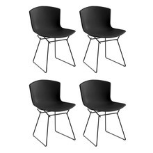 Knoll International - Knoll International Bertoia Plastic Side Chair Stuhl 4er Set
