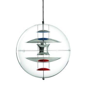 VerPan - VP Globe - Suspension - bleu/rouge/acrylique/Ø 50cm