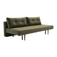Innovation - Recast Plus Schlafsofa Samt Beine dunkles Holz 200x96cm