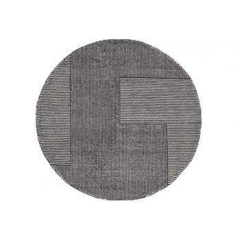Tom Dixon - Stripe Teppich rund - schwarz-weiß/Ø 200cm