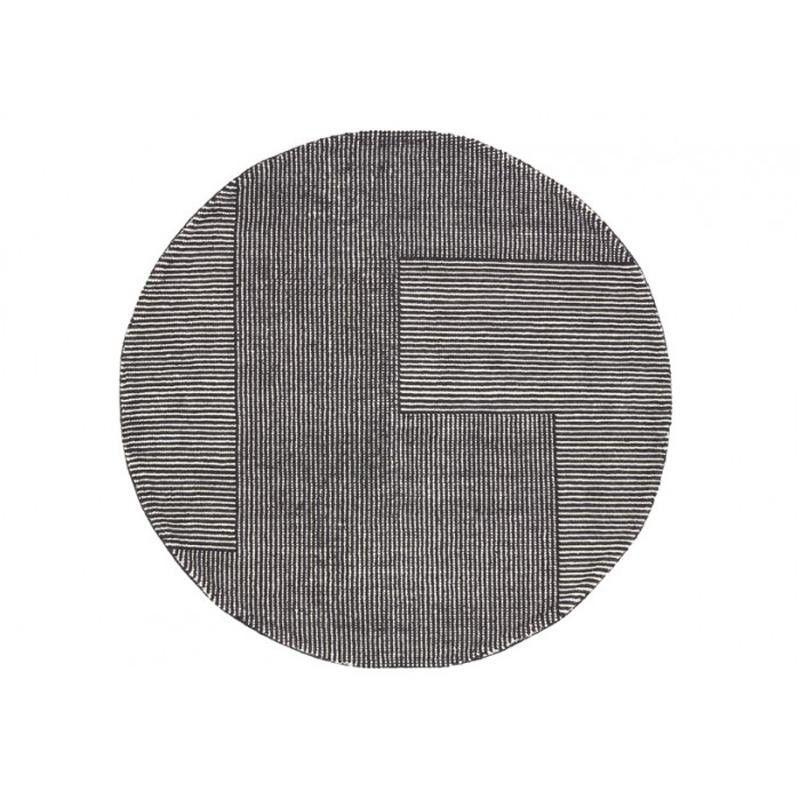 Tom Dixon   Stripe Teppich Rund   Schwarz Weiß/Ø 200cm