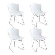 Knoll International - Bertoia Molded Shell Side Chair Gestell Chrom 4er Set