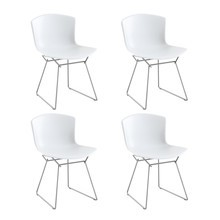 Knoll International - Bertoia Molded Shell Side Chair Frame Chrome Set of 4