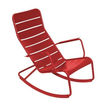 Fermob - Luxembourg Rocking Chair  - poppy/lacquered/69.5x99x94cm