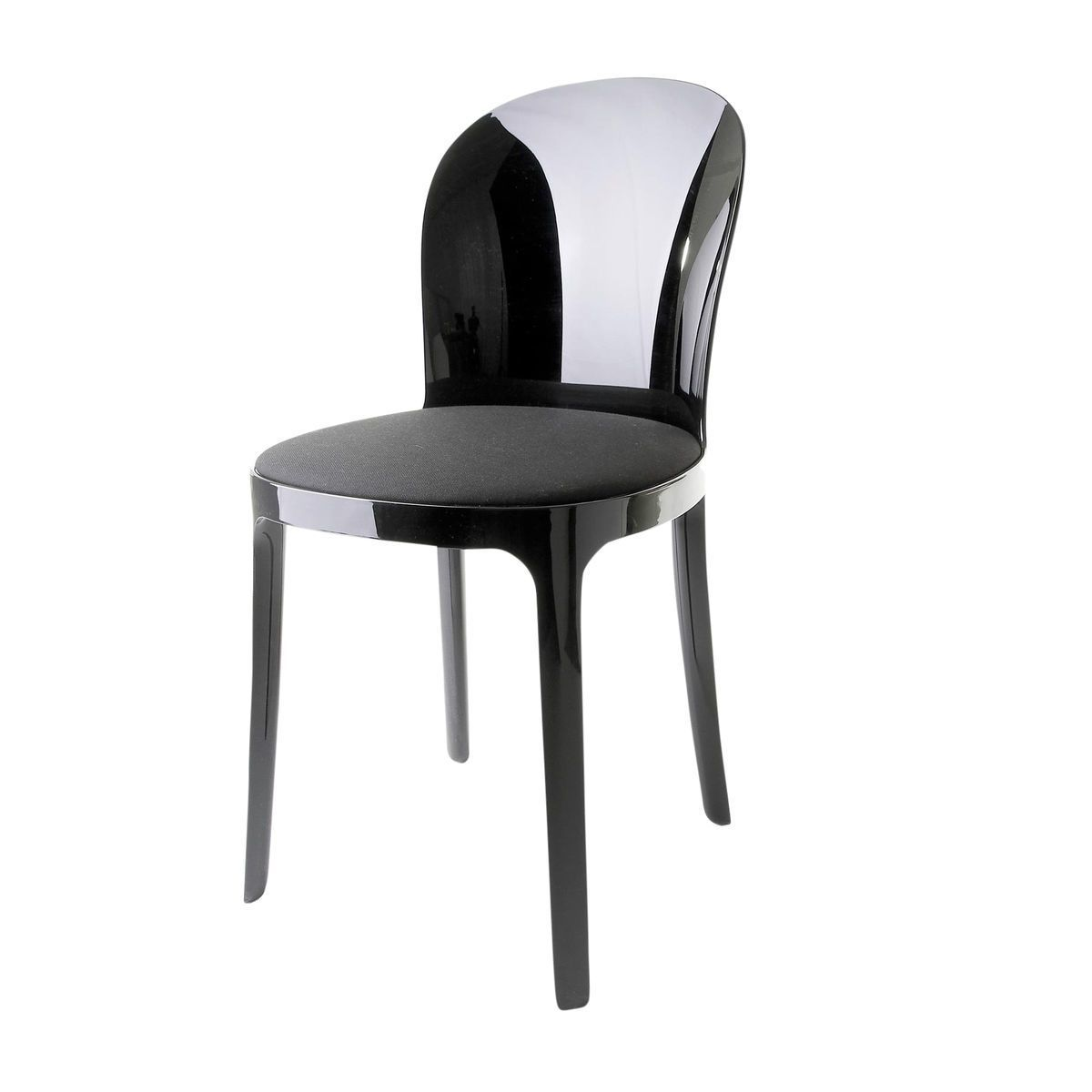 Magis Vanity Chair Black Fabric Kvadrat Field 192 Cushion