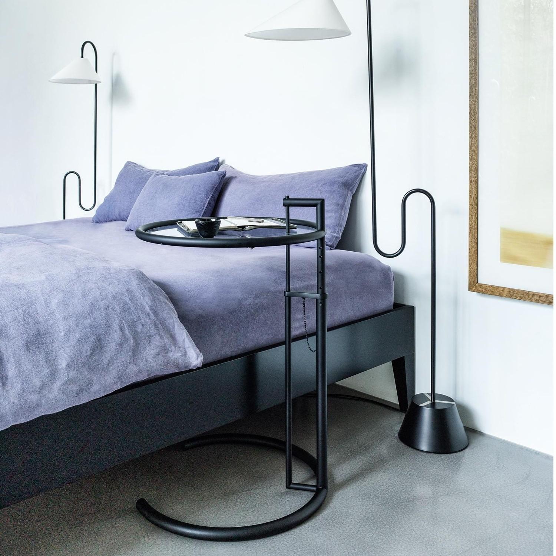 classicon adjustable table e 1027 beistelltisch schwarz
