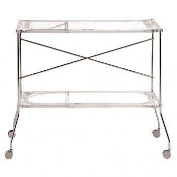 Kartell - Flip Rollwagen - transparent/Kunststoff/Gestell Metall