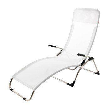 Jan Kurtz - Fiam Samba Sonnenliege - weiß/Kunststoffgewebe/LxBxH 142x63x107cm/Gestell aluminium/ kippbar