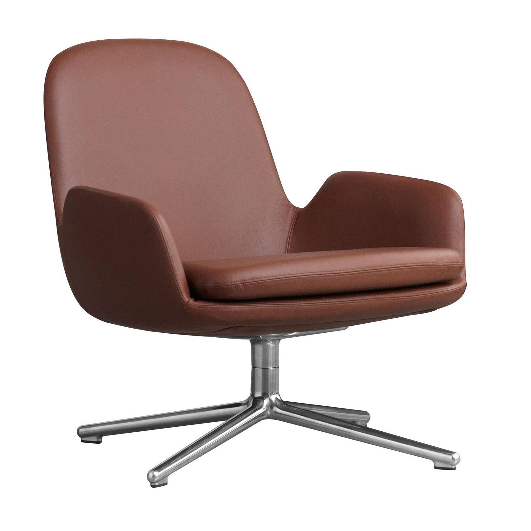 Era Lounge Chair Swivel Chair Leather Alu
