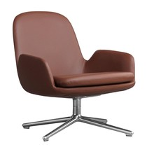 Normann Copenhagen - Era Lounge Chair Low Drehstuhl Leder Alu