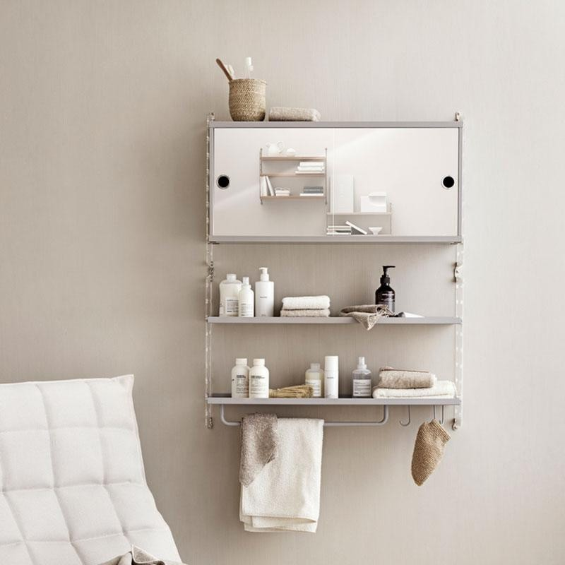 String Wall Shelf Bathroom 75x50x20cm