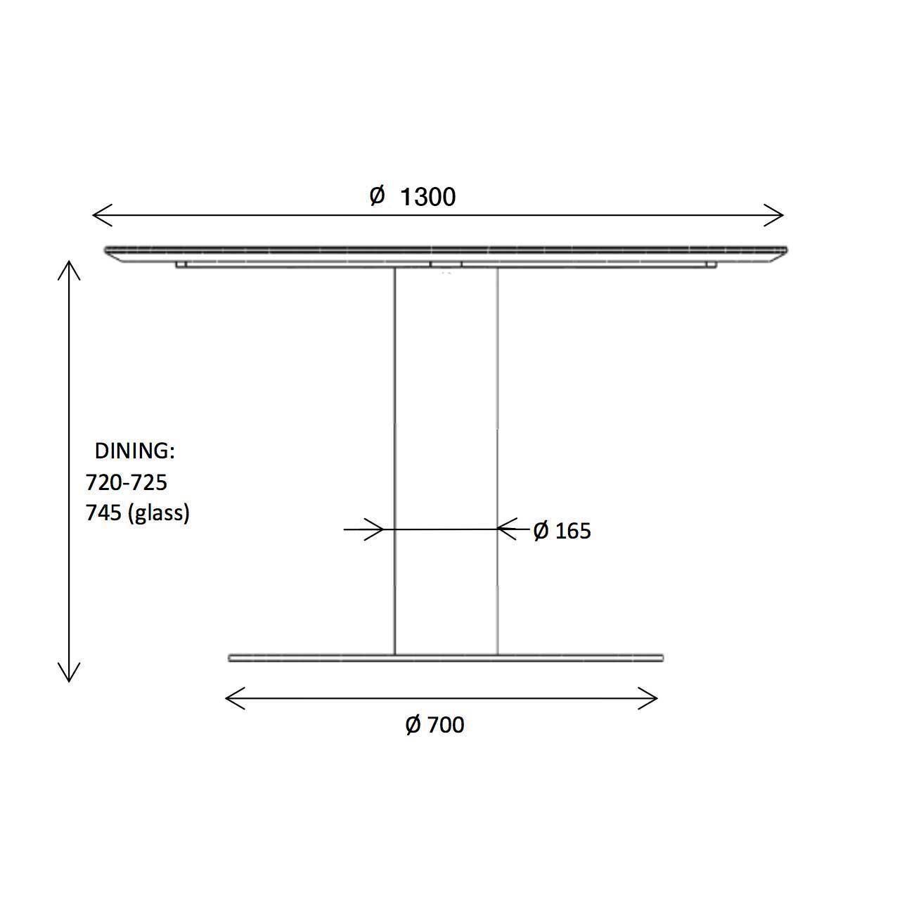 Gubi 2.0 Dining Table Frame Black Ø130cm | AmbienteDirect