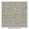MDF Italia - Flow Slim Armlehnstuhl gepolstert New Edition 2 - grau/schwarz/weiß/Schale weiß/Gestell Eiche/Stoff Monaco R319 Col. 443.040/B56 x T56 x H76.4 cm