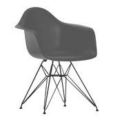 Vitra - Silla con reposabrazos Eames Plastic DAR negro