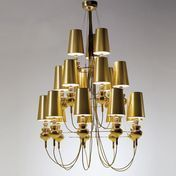 Metalarte - Josephine Queen 9.6.3 Candelabra - gold/porcelain/shade gold