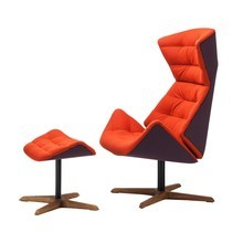 Thonet - Thonet 808 - Lounge fauteuil & ottoman