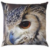 by nord - Owl Cushion 60x60cm - brown/black/washable at 30 °/incl. feather filling
