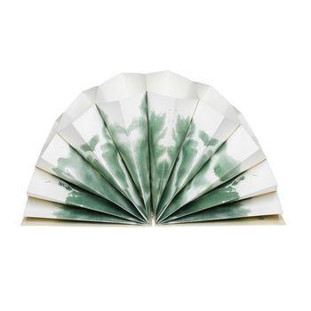 HAY - Plissé Dokumentenmappe - colour wash grün/weiß/DIN A4/35x23cm