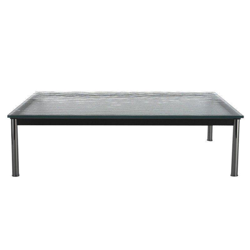 Le corbusier lc10 p outdoor mesa auxiliar cassina for Mesa cristal le corbusier
