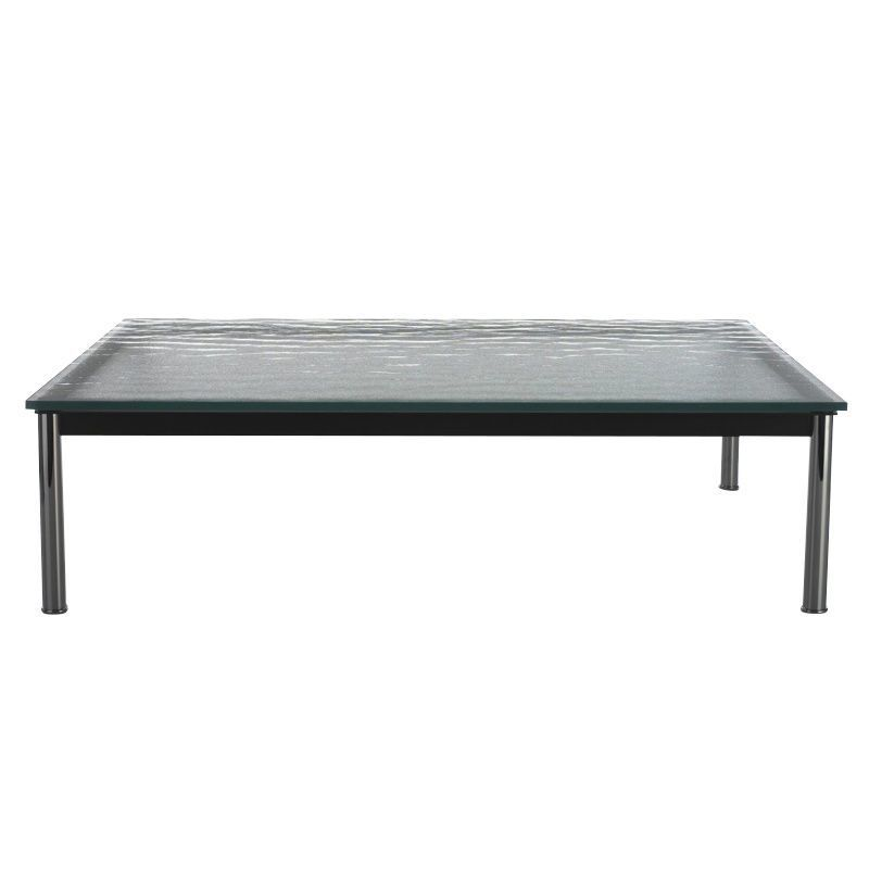 cassina le corbusier lc10p outdoor side table glass black mattedsteel