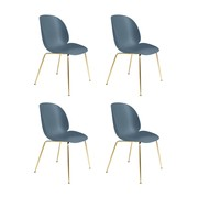 Gubi - Beetle Dining Chair Stuhl Gestell Messing 4er Set