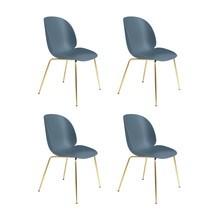Gubi - Beetle Dining Chair Stuhl Gestell Messing 4er Set