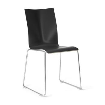 Engelbrechts - Chairik 108 Stuhl - schwarz/Melamin/Gestell: 11mm Draht blankverchromt/47x54x84cm/mit Filzgleitern