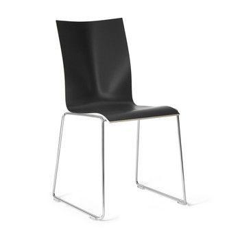 - Chairik 108 Stuhl - schwarz/Melamin/Gestell: 11mm Draht blankverchromt/47x54x84cm